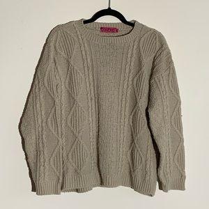 boohoo   Cable Knit Sweater Tan M/L